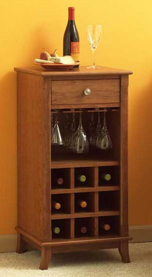 Ready-to-serve Wine Cabinet Woodworking Plan From WOOD