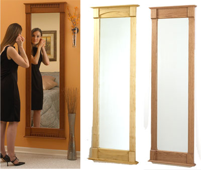 Full length wall mirror woodworking plan from wood magazine for Full length wall mirror
