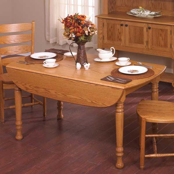 drop leaf table woodworking plan from wood magazine