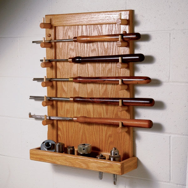 Easy access lathe tool rack woodworking plan workshop amp jigs shop