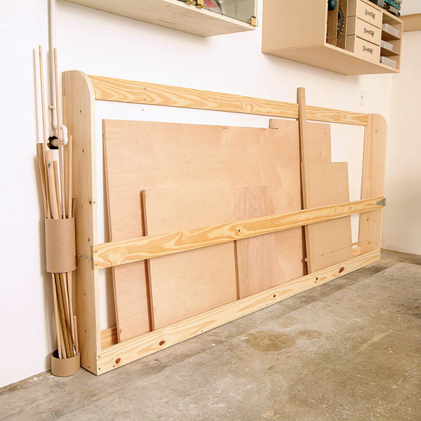 Plywood Garage Cabinet Plans: Sheet Goods Rack Woodworking Plan From WOOD Magazine