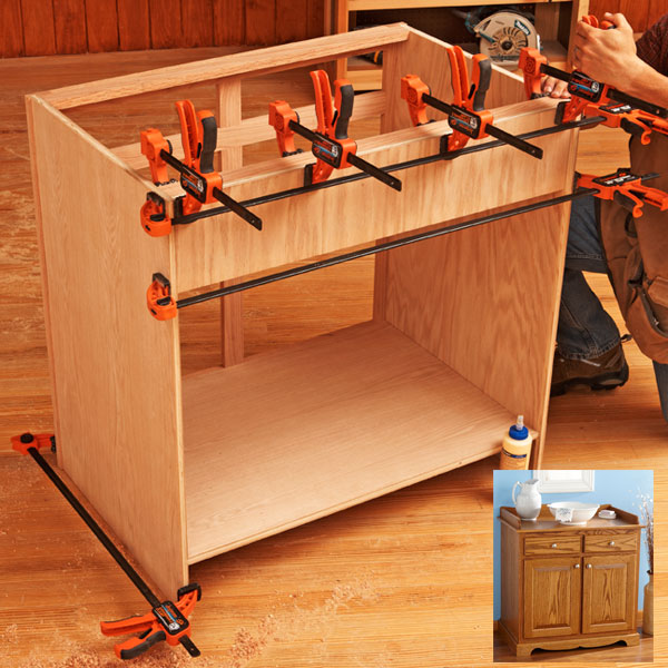 Kitchen Cabinet Woodworking Plans: How To Build Cabinets The Quick-and-Easy Way Woodworking