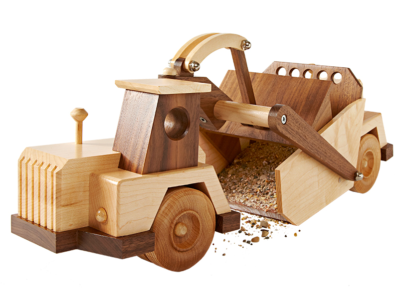 Wooden Construction Toys : Construction grade scraper woodworking plan from wood magazine