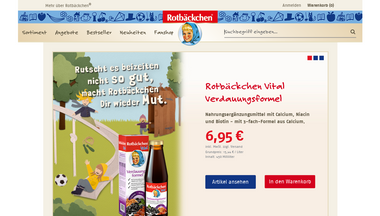 rotbaeckchen-shop.de Screenshot