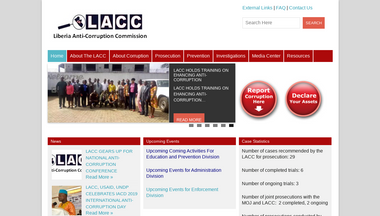 lacc.gov.lr Screenshot