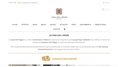 casacolliregas.cat Screenshot