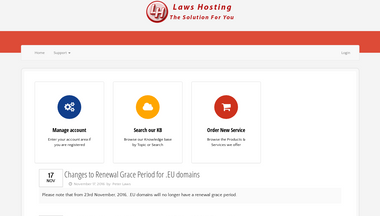 client.laws-hosting.co.uk Screenshot