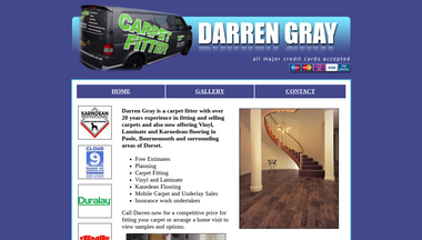 darrengraycarpets.co.uk Screenshot