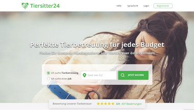 tiersitter24.at Screenshot
