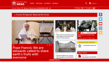Capture d'écran de vaticannews.va