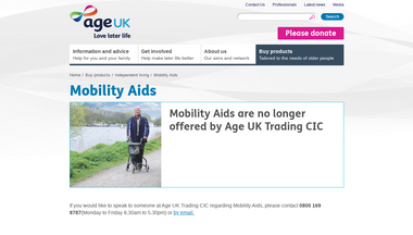 ageukmobilityaids.co.uk Screenshot