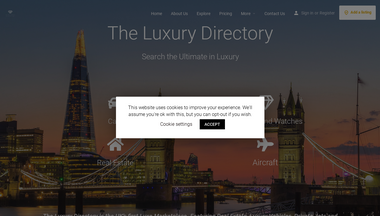 theluxurydirectory.co.uk Screenshot