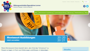 bel-montessori.at Screenshot