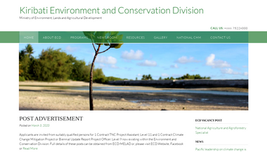 environment.gov.ki Screenshot