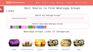 whatsappgroup.org Screenshot