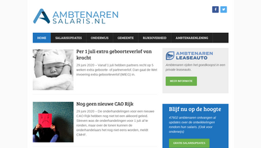 ambtenarensalaris.nl Screenshot