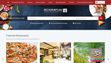 restaurant.mu Screenshot