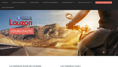 ecoledeconduitelauzon.ca Screenshot