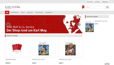 Captura de pantalla de shop.karl-may-magazin.de