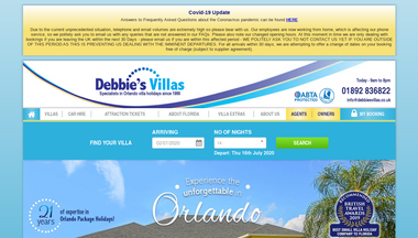 debbiesvillas.co.uk Screenshot