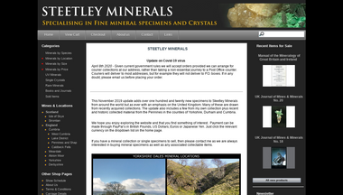 steetleyminerals.co.uk Screenshot