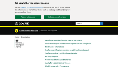 mcga.gov.uk Screenshot