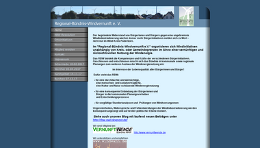 regionalbuendnis-windvernunft.de Screenshot