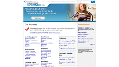 nationalbankhelp.gov Screenshot