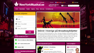 newyorkmusikal.se Screenshot