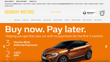 dennehymotors.ie Screenshot