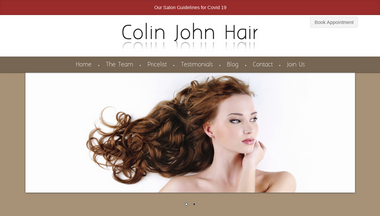 colinjohnhair.co.uk Screenshot