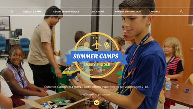 summercamps.erau.edu Screenshot