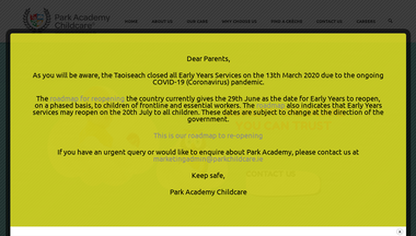 parkchildcare.ie Screenshot