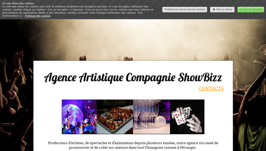 compagnieshowbizz.fr Screenshot