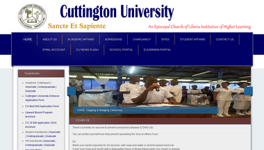 cu.edu.lr Screenshot