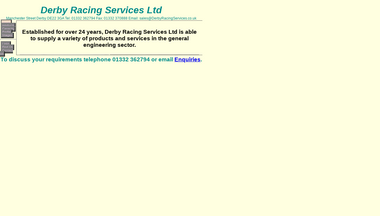 derbyracingservices.co.uk Screenshot