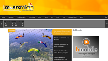 sportsmidia.cv Screenshot