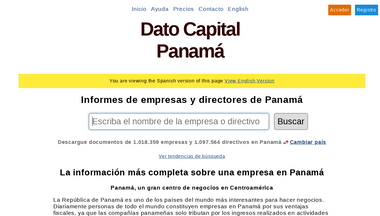 datocapital.com.pa Screenshot