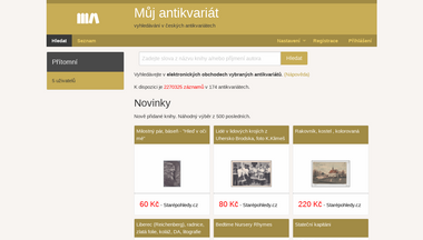 muj-antikvariat.cz Screenshot