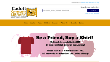cadottlibrary.org Screenshot