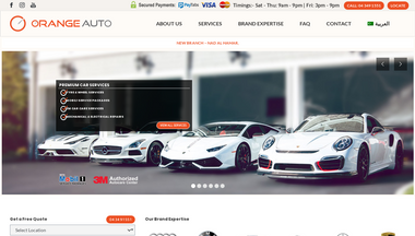 orangeauto.ae Screenshot