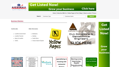 yellowpages.co.ls Screenshot