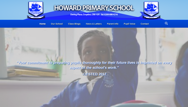 howard.croydon.sch.uk Screenshot