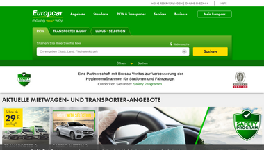 europcar.de Screenshot