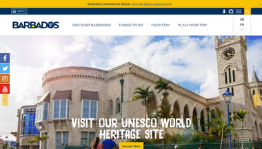visitbarbados.org Screenshot