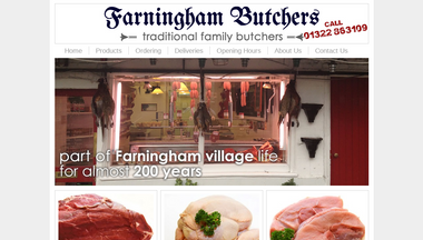 farninghambutchers.co.uk Screenshot