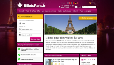 billetsparis.fr Screenshot