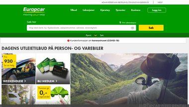 europcar.no Screenshot
