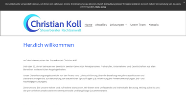 koll-partner.de Screenshot