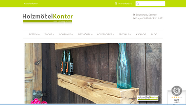 holzmoebelkontor.de Screenshot